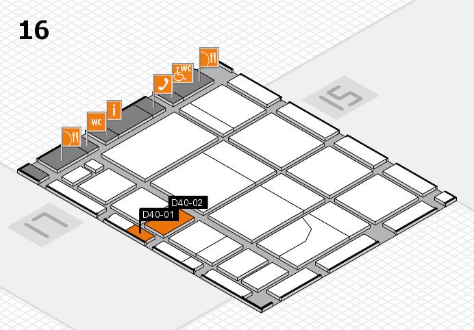 CARAVAN SALON 2016 Hallenplan (Halle 16): Stand D40-01, Stand D40-02