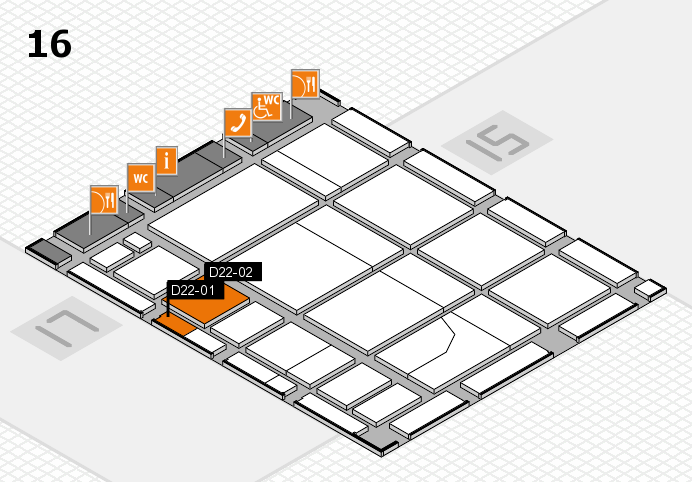 CARAVAN SALON 2016 Hallenplan (Halle 16): Stand D22-01, Stand D22-02