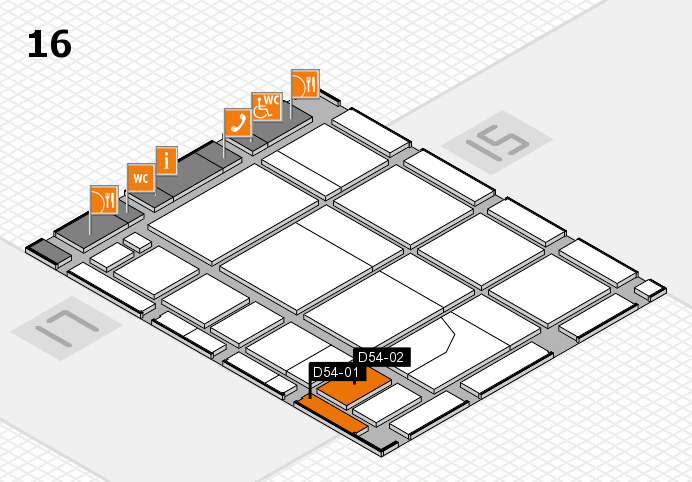 CARAVAN SALON 2016 hall map (Hall 16): stand D54-01, stand D54-02