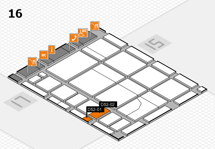CARAVAN SALON 2016 hall map (Hall 16): stand D52-01, stand D52-02