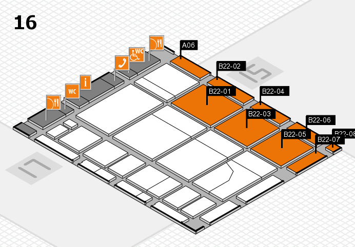CARAVAN SALON 2016 hall map (Hall 16): stand A06, stand B22-08