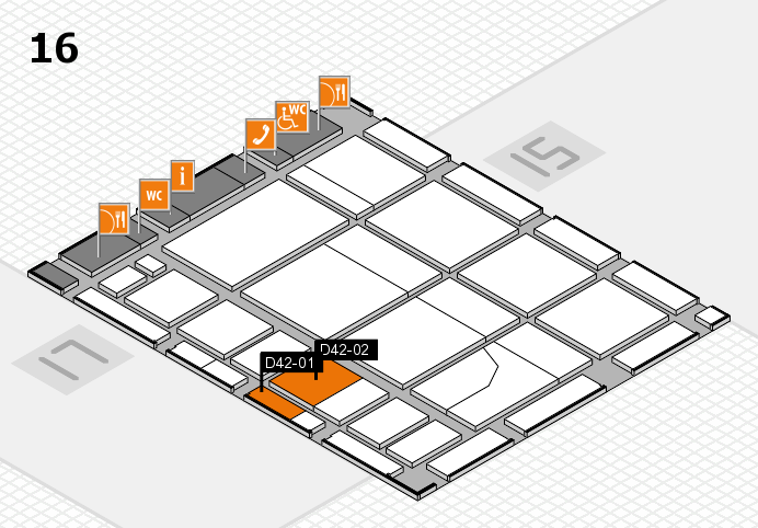 CARAVAN SALON 2016 Hallenplan (Halle 16): Stand D42-01, Stand D42-02