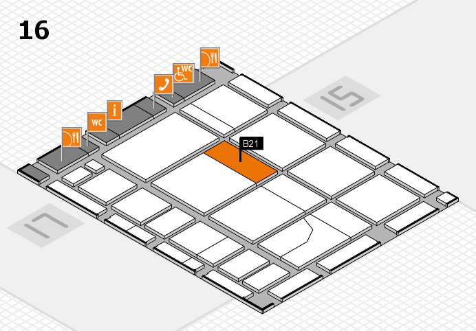 CARAVAN SALON 2016 hall map (Hall 16): stand B21