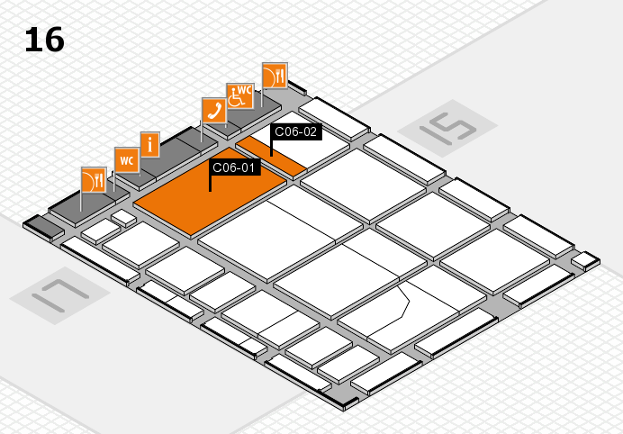 CARAVAN SALON 2016 hall map (Hall 16): stand C06-01, stand C06-02