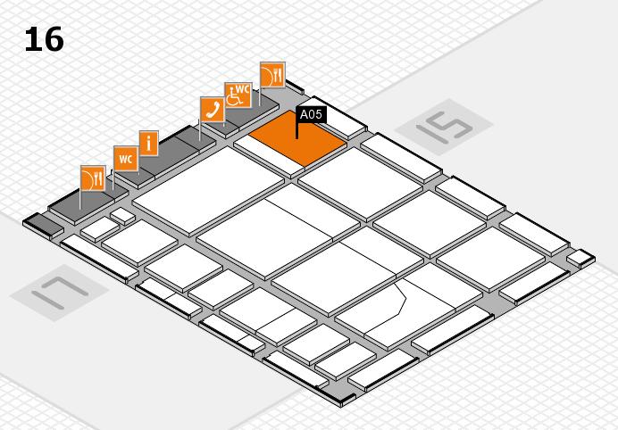 CARAVAN SALON 2016 hall map (Hall 16): stand A05