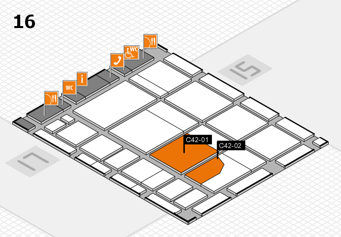 CARAVAN SALON 2016 hall map (Hall 16): stand C42-01, stand C42-02