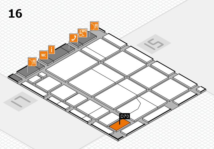 CARAVAN SALON 2016 hall map (Hall 16): stand D70