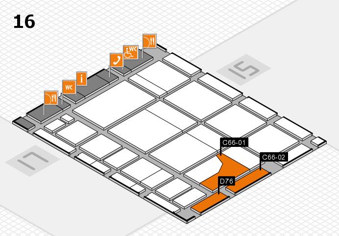 CARAVAN SALON 2016 Hallenplan (Halle 16): Stand C66-01, Stand D76