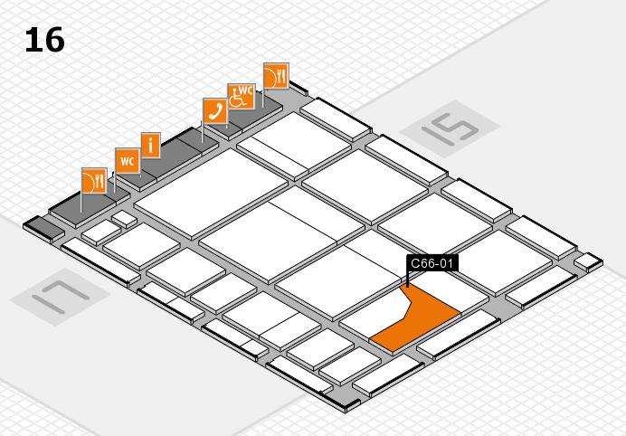 CARAVAN SALON 2016 hall map (Hall 16): stand C66-01