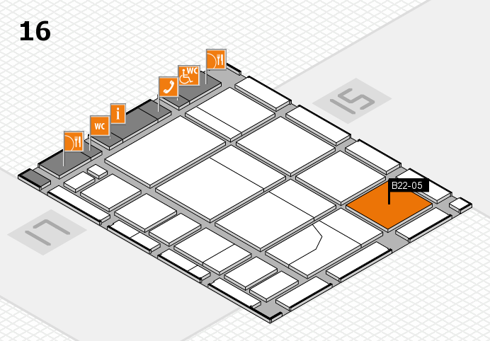 CARAVAN SALON 2016 hall map (Hall 16): stand B22-05