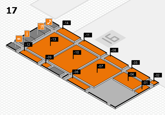 CARAVAN SALON 2016 hall map (Hall 17): stand -01, stand -14