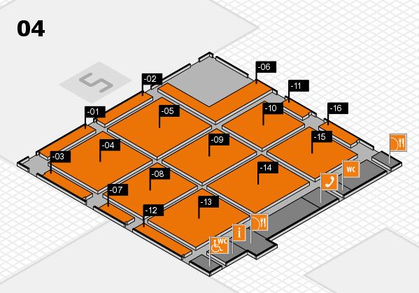 CARAVAN SALON 2017 hall map (Hall 4): stand -01, stand -16