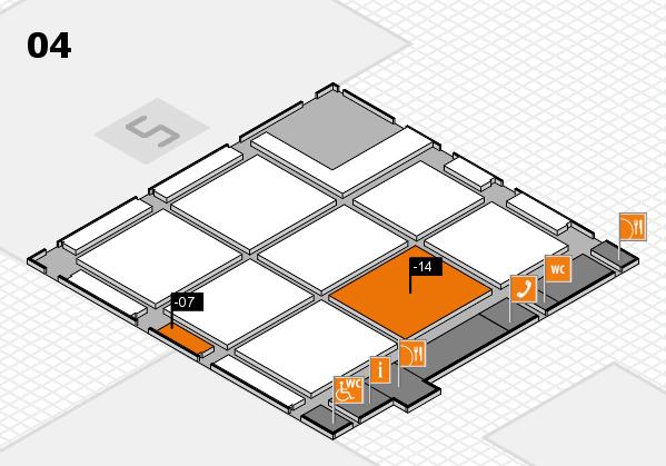 CARAVAN SALON 2017 hall map (Hall 4): stand -07, stand -14