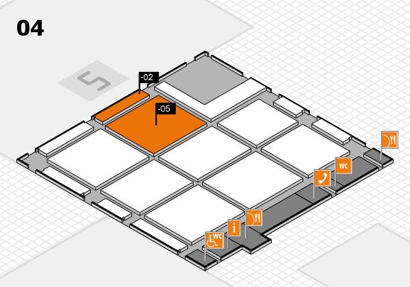 CARAVAN SALON 2017 hall map (Hall 4): stand -02, stand -05