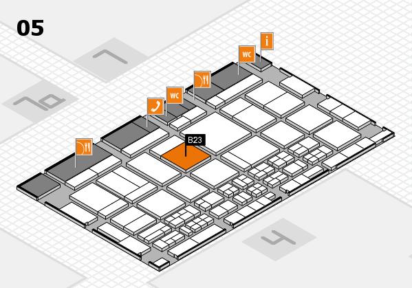 CARAVAN SALON 2017 hall map (Hall 5): stand B23