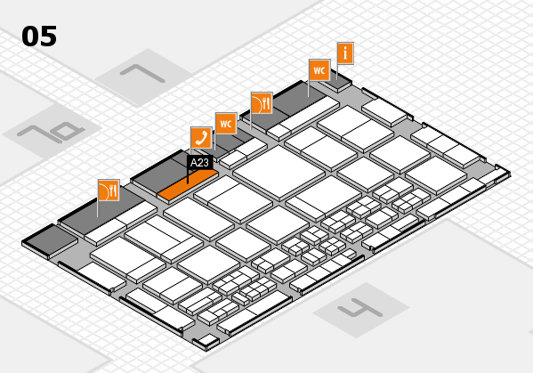 CARAVAN SALON 2017 hall map (Hall 5): stand A23