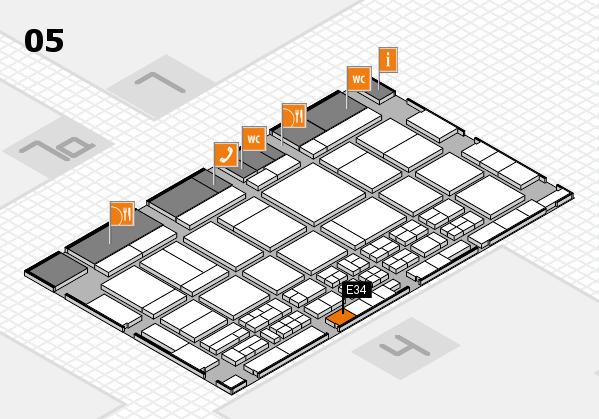 CARAVAN SALON 2017 Hallenplan (Halle 5): Stand E34