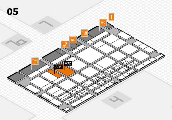 CARAVAN SALON 2017 hall map (Hall 5): stand A32, stand A36