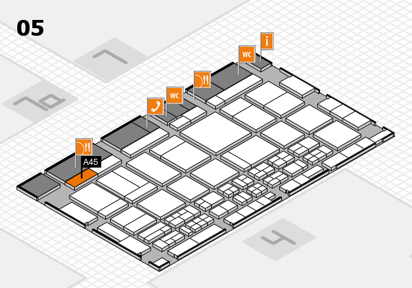 CARAVAN SALON 2017 hall map (Hall 5): stand A45