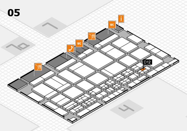 CARAVAN SALON 2017 hall map (Hall 5): stand D12