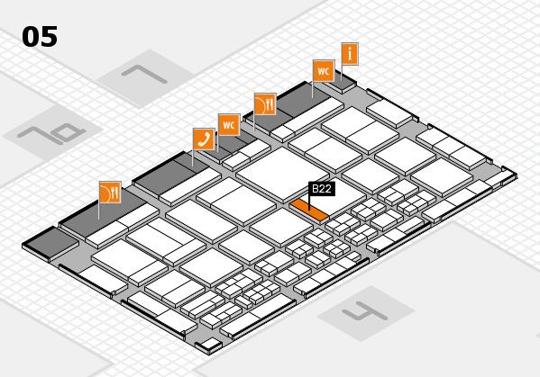 CARAVAN SALON 2017 Hallenplan (Halle 5): Stand B22