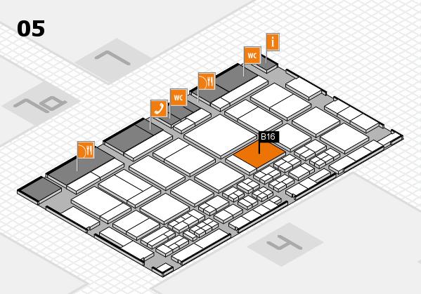 CARAVAN SALON 2017 hall map (Hall 5): stand B16