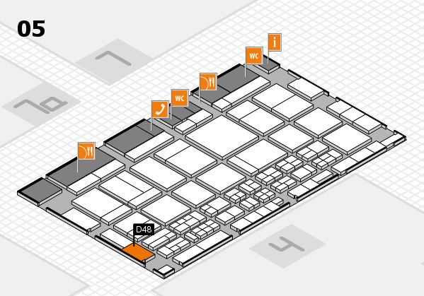 CARAVAN SALON 2017 hall map (Hall 5): stand D48