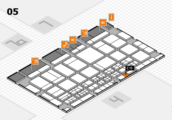 CARAVAN SALON 2017 hall map (Hall 5): stand E18