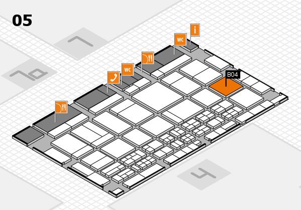 CARAVAN SALON 2017 hall map (Hall 5): stand B04