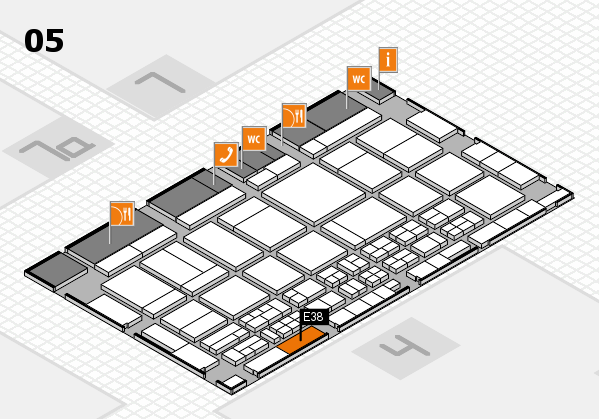 CARAVAN SALON 2017 hall map (Hall 5): stand E38