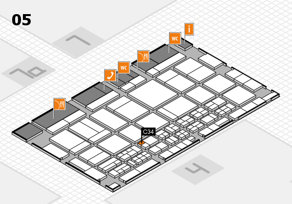 CARAVAN SALON 2017 hall map (Hall 5): stand C34