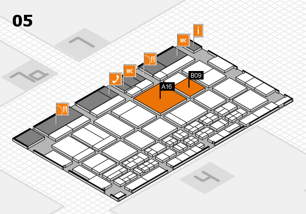CARAVAN SALON 2017 hall map (Hall 5): stand A16, stand B09
