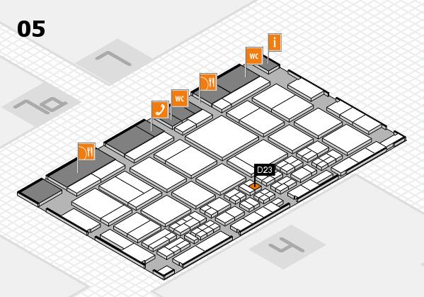 CARAVAN SALON 2017 hall map (Hall 5): stand D23