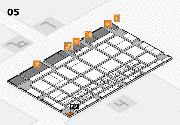 CARAVAN SALON 2017 hall map (Hall 5): stand E48