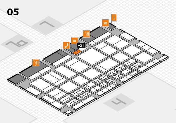 CARAVAN SALON 2017 Hallenplan (Halle 5): Stand A21