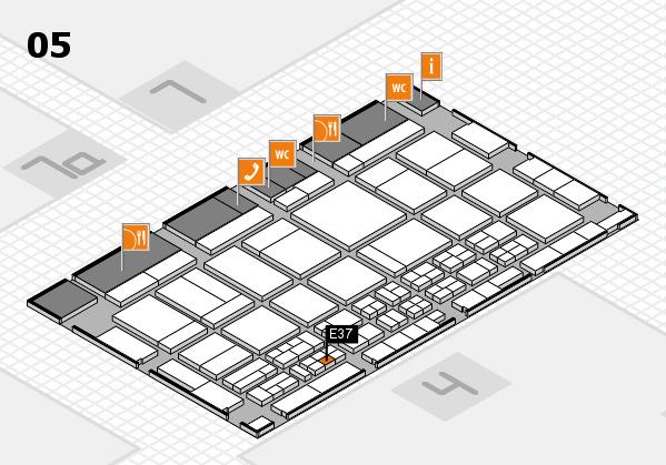 CARAVAN SALON 2017 hall map (Hall 5): stand E37