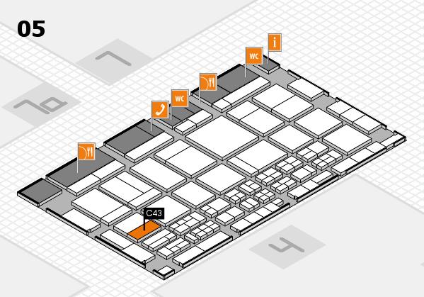 CARAVAN SALON 2017 hall map (Hall 5): stand C43