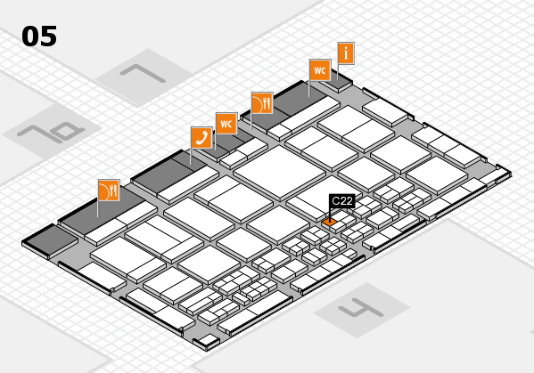CARAVAN SALON 2017 Hallenplan (Halle 5): Stand C22