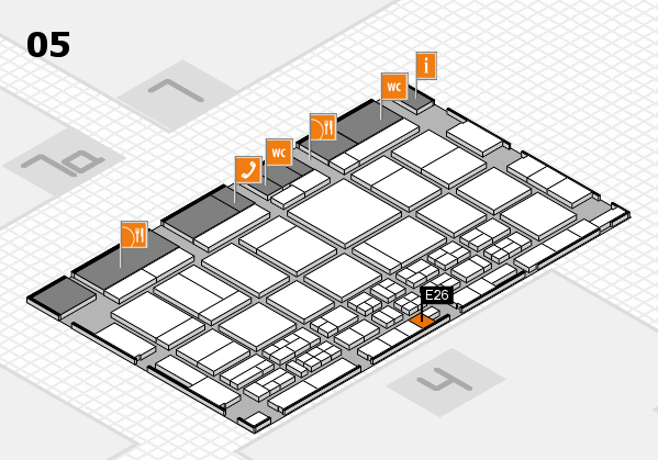 CARAVAN SALON 2017 hall map (Hall 5): stand E26