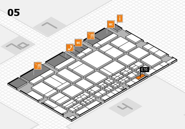 CARAVAN SALON 2017 hall map (Hall 5): stand E16