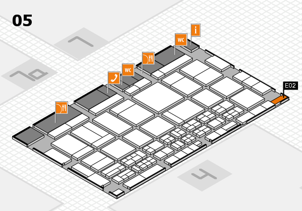 CARAVAN SALON 2017 hall map (Hall 5): stand E02