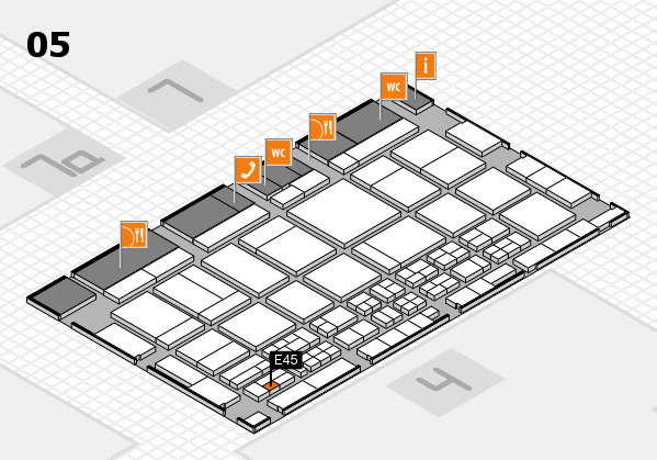 CARAVAN SALON 2017 hall map (Hall 5): stand E45
