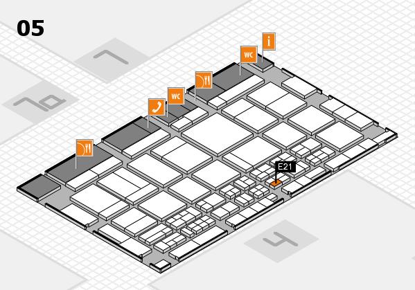 CARAVAN SALON 2017 hall map (Hall 5): stand E21