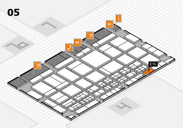 CARAVAN SALON 2017 hall map (Hall 5): stand E10