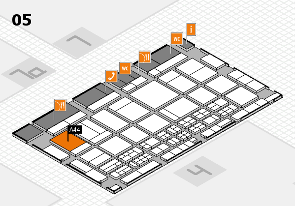 CARAVAN SALON 2017 Hallenplan (Halle 5): Stand A44