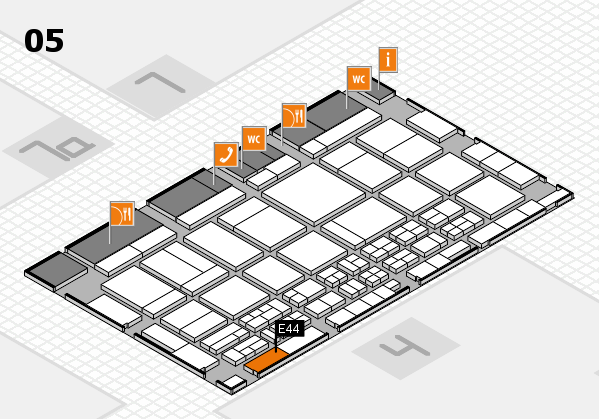 CARAVAN SALON 2017 hall map (Hall 5): stand E44
