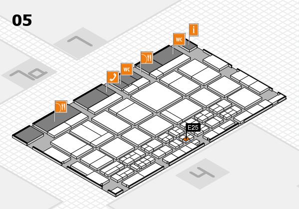 CARAVAN SALON 2017 hall map (Hall 5): stand E25