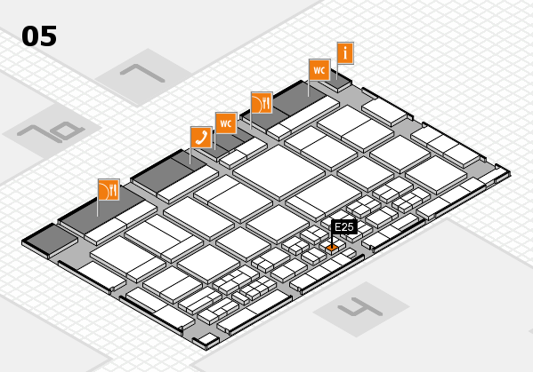 CARAVAN SALON 2017 Hallenplan (Halle 5): Stand E25