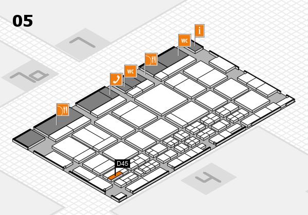 CARAVAN SALON 2017 hall map (Hall 5): stand D45