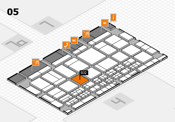 CARAVAN SALON 2017 hall map (Hall 5): stand B32